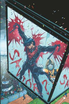 NIGHTWING #23  Written by KYLE HIGGINS  Art and cover by BRETT BOOTH and NORM RAPMUND  On sale AUGUST 14 • 32 pg, FC, $2.99 US • RATED T  A city under siege as the Prankster's attacks take over Chicago! Can Nightwing find the madman before he kills again? And just what is the Prankster's endgame? Plus, don't miss Tony Zullo's shocking decision