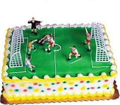 Soccer Set Cake Decorations 9/Pkg Party Decorations by iluvdesign