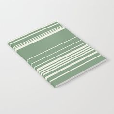 Complex Stripes - Green Notebook