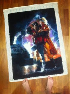 Back to the Future Latch hook rug