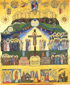 As a congregant at a Maronite Catholic Church, I am particularly drawn to theirs which are written in the Syro-Maronite Style. There are 51 icons, like the one below, representing Sundays and Holy Days throughout the Liturgical Year.