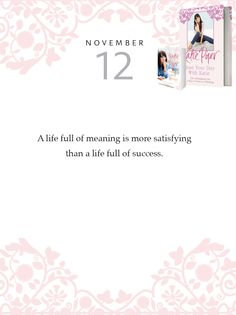 Affirmation for November Katie Piper, November 12th, Affirmations, Meant To Be, Things To Do, Success, Day, Life, Things To Make
