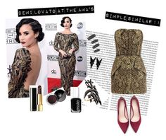 """""""Simple similar for demi lovato's gourgous look at the AMA 2015"""" by sar-rab on Polyvore featuring Alexander McQueen, Zara, Arabel Lebrusan, Karma Jewels, Chanel, Eddie Borgo and Essie"""