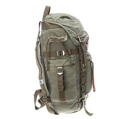 The North Face Canvas Pack | Men's - Cargo Green - FREE SHIPPING at OnlineShoes.com