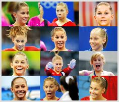 Shawn Johnson funny faces