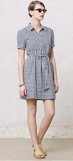 7be2878d7c9b1a Gingham dress shirt from Anthropologie Gingham Shirt, Gingham Dress, New  Era, Day Dresses