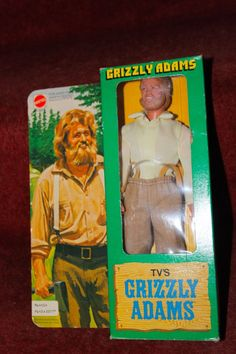 Vintage Grizzly Adams Action Figure NRFB 1978 16+7.5
