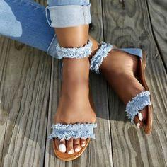 the cutest little fringe sandals! love the heel version too!!! #sandalsheelssummer
