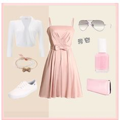 Pink, created by manders527 on Polyvore. Keeneland?