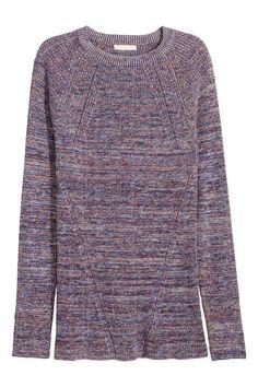 Camisola em malha canelada | H&M