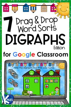 This Interactive Digraph Picture and Word Sort set is perfect for introducing and reviewing the discrimination of digraphs using Words Their Way or any Spelling program on Google Classroom. These word sorts are great for whole group, centers or distance learning. Phonics Rules, Phonics Lessons, Teaching Phonics, Google Classroom, Math Classroom, Learning Resources, Teacher Resources, Spelling Patterns, First Grade Activities