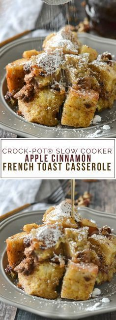 An easy and delicious recipe for Crock-Pot® Slow Cooker Apple Cinnamon French Toast Casserole loaded with chopped apples, pecans and chunks of French bread. Top with warm maple syrup and a dusting of powdered sugar for an irresistible breakfast everyone will love! This post is sponsored by Crock-Pot® Slow Cooker Can you believe there's just 3 …