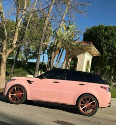 dream cars Blac Chyna loves to live in luxury. The star was spotted driving around Los Angeles in a brand new pink Range Rover. the reality diva took son King Cairo to lunch at Pretty Cars, Pretty In Pink, Fancy Cars, Cool Cars, Range Rover Auto, Range Rover Evoque, Maserati, Bugatti, Sexy Autos