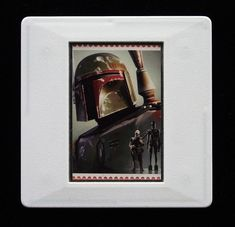 The Royal Mail released a set of special stamps featuring some of the characters, favourite droids, aliens and creatures of the Star Wars films. This 1st class stamp design shows 'Boba Fett', a bounty hunter and the pilot of the spaceship Slave I.  This unique and handmade brooch is an eye-catching piece, ideal to wear at any Comic Con. The unused stamp is encased in a vintage slide mount, with glass, making this a unique piece of jewellery. True Colors, Colours, Star Wars Film, Star Wars Boba Fett, Brooches Handmade, Bounty Hunter, Royal Mail, Design Show, Postage Stamps