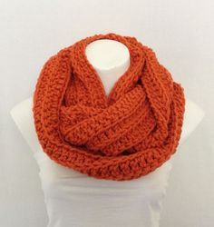 Orange Chunky Crochet Infinity Scarf Chunky Cowl by AurellaBlue, $36.00: REPINNING BECAUSE I BOUGHT IT AND LOVE IT!!