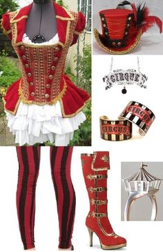Circus Ring Master- [I Made] More - visuallytrends Halloween Circus, Halloween Costumes, Family Halloween, Circus Themed Costumes, Vintage Circus Costume, Vintage Circus Party, Clown Cirque, Steampunk Circus, Circus Outfits