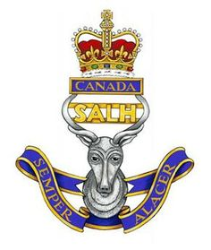 The South Alberta Light Horse cap badge. The South Alberta Light Horse, or SALH… Field Engineer, Army Base, Canadian Army, Military Police, Coat Of Arms, Armed Forces, Badges, Horses, Patches