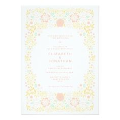 Pastel Candy Floral Wedding Invitation - click to get yours right now!  #wedding #invitation #weddingideas #weddinginspiration  #flower #floral #botanical #garden #outdoor #nature #romantic #editable