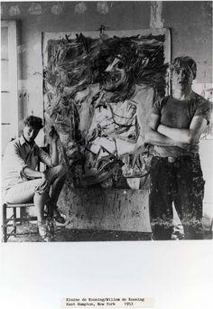 Elaine and Willem DeKooning in East Hampton, New York.