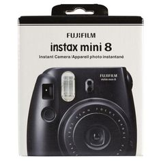 Fujifilm Instax Mini 8 Camera, Black