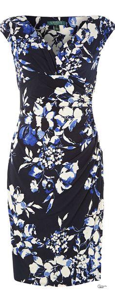Lauren by Ralph Lauren  ● floral print dress