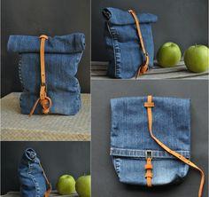 Jeanstasche aus einem Hosenbein selbst gestalten