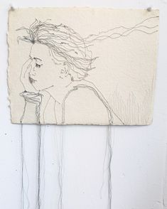 Fibre art; textile art : drawing with threads...