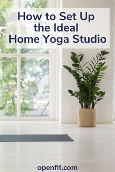 One of the many upsides of yoga is that you can practice anywhere. At the same time, having a dedicated home yoga studio where you roll out your mat can help you stay consistent and reap the benefits of yoga. #yogaforbeginners #yogahome #yogafitness Yoga Workouts, Workout Routines, At Home Workouts, Workout Ideas, Yoga Studio Home, Yoga At Home, Wellness Tips, Health And Wellness, Women's Health