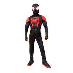 Vibrant Spider-Man: Into The Spider-Verse Miles Morales Spider Man Costume. Impresive Ideas of Spiderman Costumes for Halloween at PartyBell. Superhero Costumes For Boys, Spiderman Costume, Marvel Costumes, Boy Costumes, Halloween Costumes For Kids, Costume Ideas, Superhero Party, Halloween 2019, Miles Morales Costume