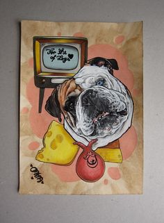 For your commission go to DRAW ME A MONKEY on Etsy/facebook/Instagram  #dog #dogportrait #petportrait #drawmeamonkey #drawing #portrait #illustration #commission #custommade #bulldog