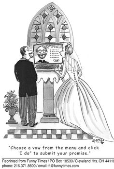 Will and Guy's collection of funny bride cartoons. Here are amusing pictures showing how humour can make a great day funny and memorable. Funny Wedding Vows, Wedding Anniversary Quotes, Dog Wedding, Wedding Humor, Plan Your Wedding, Dream Wedding, Wedding Ceremony, Wedding Stuff, Camp Wedding