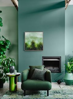65 Ideas Interior Colour Trend 2020 - Room Dynamic Sie sind an der richtigen St. 65 Ideas Interior Color Trend 2020 - Room Dynamic You are in the right place . 65 Ideas Interior Color Trend 2020 - Room Dynamic you are in the right place for Colorf Green Paint Colors, Design Living Room, Living Room Trends, Living Rooms, Green Interior Design, Interior Paint Colors, Green Rooms, Design Furniture, Wall Colors