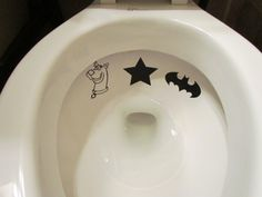Boys toilet target potty training decals- must have!
