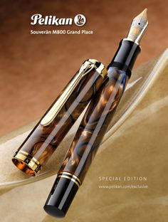 Buy Pelikan Souveran Grand Place Fountain Pens for less at Pen Chalet. Shop online and save with our discount prices on Pelikan Souveran Grand Place Fountain Pens. Omas Fountain Pen, Fountain Pen Drawing, Stylo Art, Pen Chalet, Luxury Pens, Goulet Pens, Fine Pens, Pen Collection, Pen Turning
