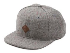 Vans Off The Wall Avery Gray Speck Wool Blend Adjustable Snapback Hat Mens  Nwt 69fd9a701bee