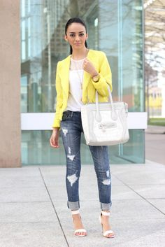 """Tweed Cropped Jacket: Target. white lace top: Furor Moda   Jeans: (old). Bag: Shoedazzle """"Whitley"""" Shoes: Shoedazzle """"Erwin"""""""