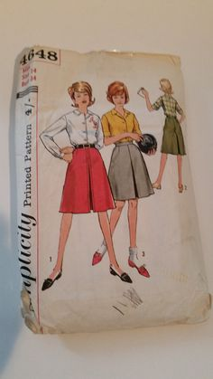 Vintage 1960s Simplicity 4648A sewing pattern misses'