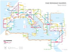 The Roman Empire's 250,000 Miles of Roadways Imagined as a Subway Transit Map | Colossal