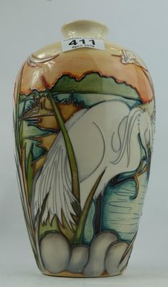 Top 25 Highest Selling Lots -Collectors & General Auction – Lot 411 – Moorcroft RSPB Life on the Esturies vase limited edition height 23cm.  Sale Price £280.00