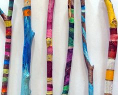 Painted sticks by lilyismyname on Etsy, $25.00