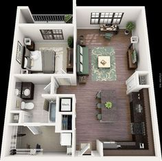 50 One 1 Bedroom ApartmentHouse Plans Bedroom apartment