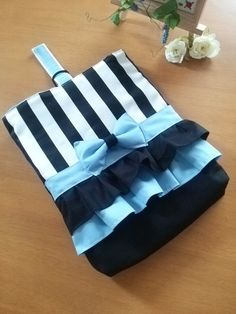 Striped and Ruffled Tote