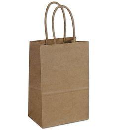 Kraft Paper Shoppers Double Wine Bags