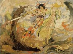 The Glaive Of Light ~ John Duncan (Scottish 1866-1945)