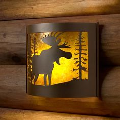 $93.00 Shop P & D Metal Works P & D Metal Works MS009F Moose Wall Sconce, Powder Coated Brown Sugar  at ATG Stores. Browse our wall sconces, all with free shipping and best price guaranteed.