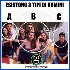 Tu a quale categoria appartieni? #bastardidentro #perfettamentebastardidentro #uomini #donne www.bastardidentro.it