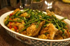 Chicken with Saffron Rice and Warm Asparagus Salad | Striped Spatula