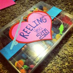"""I made this handmade """"tackle box"""" valentines preset tonight. Such a cute idea for guys:)"""
