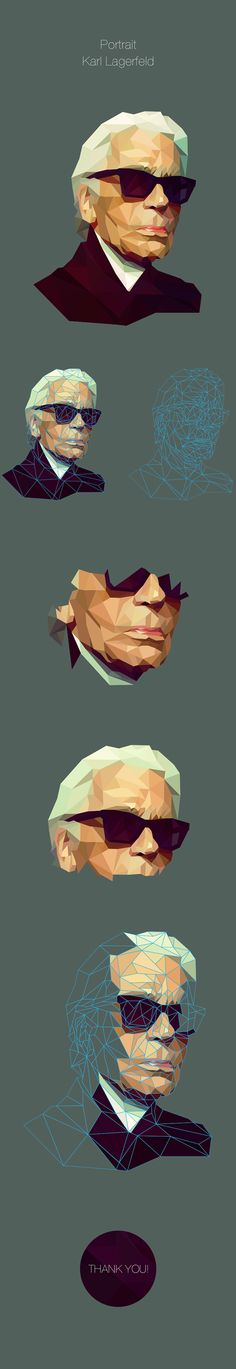 Low Poly Portrait on Behance
