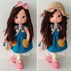 Crochet Baby Toys, Crochet Dolls, Crochet Hats, Hana, Instagram, Make Up Tips, Knitting And Crocheting, Tricot, Beautiful Dolls